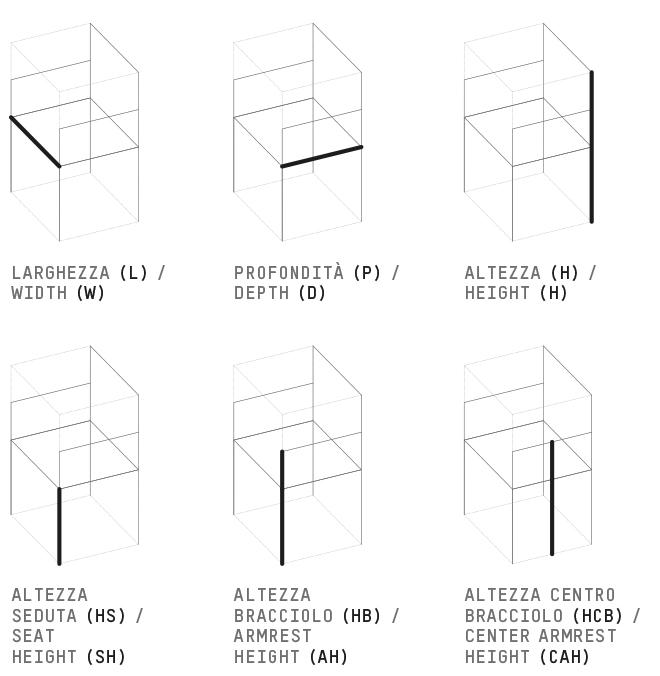 dimensioni sedie / chairs